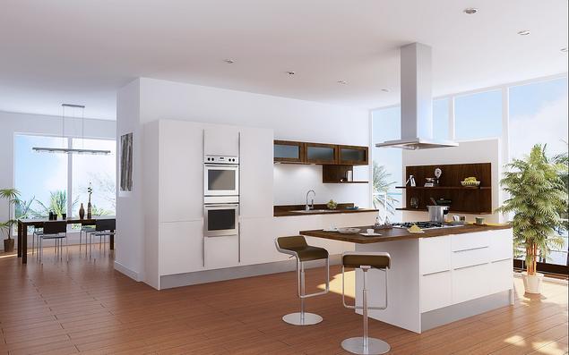 Zobacz galerię zdjęć Kuchnia z wyspą Aranżacja białych   -> Nowoczesne Kuchnie Z Wyspą Aranżacje