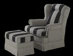 Fotel tapicerowany Bristol KOLOROWYCH SNÓW.PL - zdjęcie 3