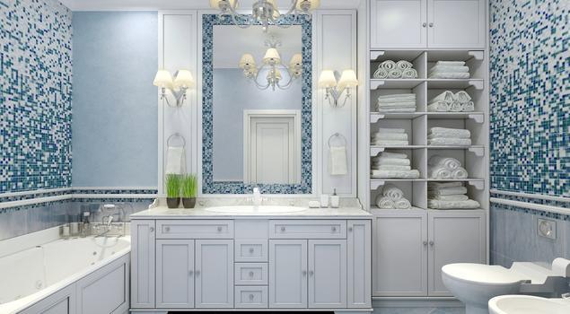 niebieska �azienka pomys� na wnętrze