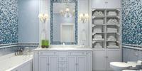 Niebieska łazienka - pomysł na wnętrze