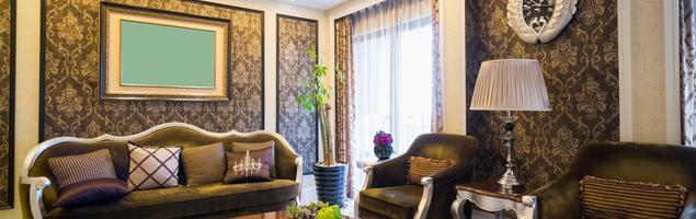 Salon z jadalnią w stylu glamour, czyli barokowy przepych we wnętrzu